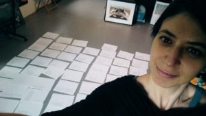 Arranging and ordering the poems